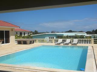 A four bedroom villa Ultima with an ultimate privacy will stay in your memories forever! Each bedroom has its entrance to the big area with a crystal clear pool, all the bedrooms have its own cable TV, safe and an air conditioner. There is a flat screen i - Sosua vacation rentals