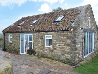 THE COWSHED, detached stone cottage with woodburning stove. Mostly ground floor. Patio with furniture, fire put and sea views, near Whitby, Ref 916824 - Hawsker vacation rentals