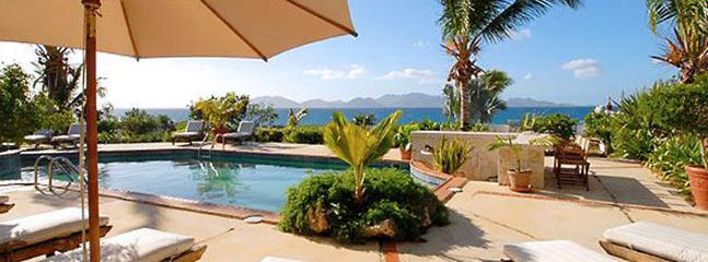 AVAILABLE CHRISTMAS & NEW YEARS: Anguilla Villa 22 Magnificent Freshwater Pool And Whirlpool With Waterfall Splash-over Rest Literally On The Rugged Coastline Of Anguilla. - Little Dix vacation rentals