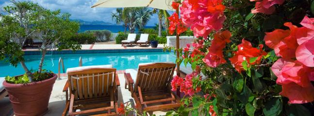 AVAILABLE CHRISTMAS & NEW YEARS: Anguilla Villa 110 Magnificent Freshwater Pool And Whirlpool With Waterfall Splash-over Rest Literally On The Rugged Coastline Of Anguilla. - Little Dix vacation rentals