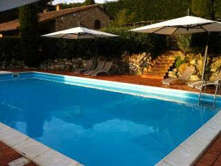 Tuscan hillside farmhouse with private pool, terrace and garden, great for family holidays - San Gimignano vacation rentals