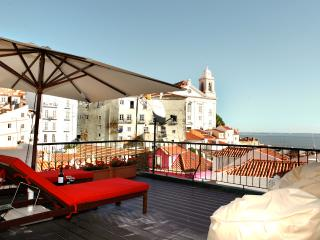 Best terrace river view, Alfama apartment - Lisbon vacation rentals