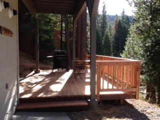 Front deck, just added November 2014. - Yosemite Alpine Hut (lower unit) - Yosemite National Park - rentals