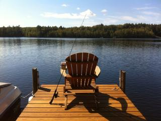 "Get away to the only rustic ""full-log"" home 12' ft from lake w/amazing views! - Bridgton vacation rentals"