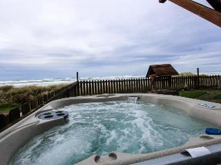 Waterfront, dog-friendly, home with hot tub - Only 75 feet from beach! - Waldport vacation rentals