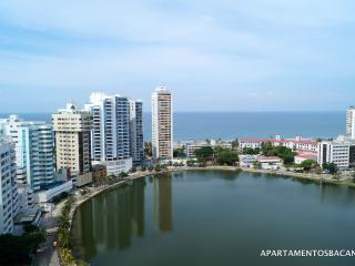 COZY FLAT WITH NICE VIEW ON THE LITTLE LAKE (LAGUI - Cartagena vacation rentals