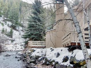 Waterfront home w/ shared hot tub & pool - one-minute walk to ski lifts! - Ketchum vacation rentals