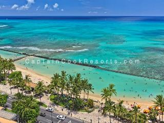 Sweeping ocean views, 2 bed, 2 bath upgraded condo with marble bathrooms. - Waikiki vacation rentals