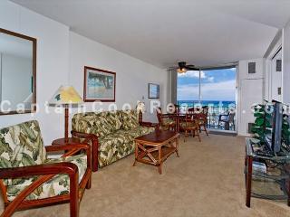 Ocean & yacht harbor views!  Walk to beach, shops, restaurants!  Sleeps 4. - Waikiki vacation rentals