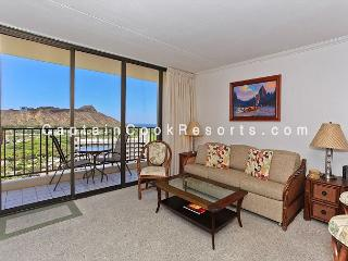 Ocean and Diamond Head views from upgraded one-bedroom vacation rental! - Waikiki vacation rentals