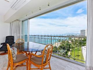Beachfront, sweeping ocean views!  Newly remodeled, split A/C, Toto Washlet! - Waikiki vacation rentals