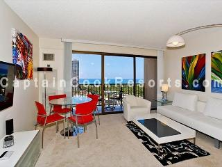 Amazing ocean and sunset views from this modern, high floor 1-bedroom condo! - Waikiki vacation rentals