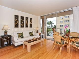 2-bedroom, 2 bath – sleeps 4!  AC, washer/dryer, dishwasher, WiFi, parking. - Waikiki vacation rentals
