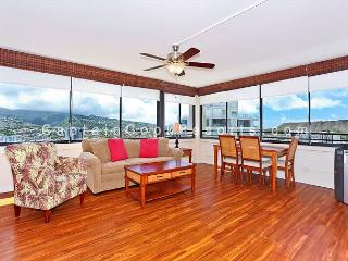 High floor one bedroom with washlet, AC, washer/dryer, WiFi, pool & parking! - Waikiki vacation rentals