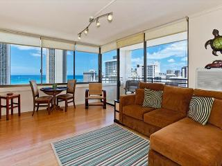 Ocean Views!  One bedroom, washer/dryer, WiFi, pool & parking! - Waikiki vacation rentals