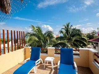 NEW APT, KING BED, GROUND FLOOR EASY ACCESS TO POOL & HOT TUB, AIR CON, BIKES - Puerto Morelos vacation rentals
