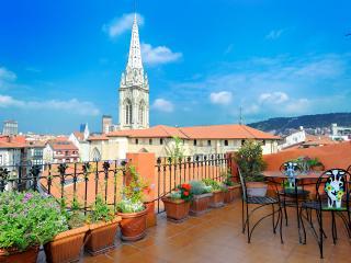Artekale Terraza 27 m2 frente  Catedral de Bilbao - Abadino vacation rentals