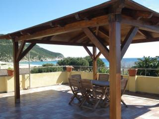 The beautiful terrasse front the beach - Solanas vacation rentals