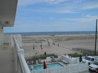 Beach Front, Top Floor, 2 BR with Heated Pool - Jersey Shore vacation rentals