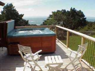 great hot tub and BBQ outside with ocean views - Seagaze - Seagaze - Gualala - rentals