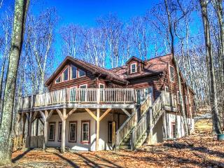 5BR Log Cabin on Beech Mountain, Wall of Windows, Large Deck, 3 miles to Ski Slopes, Ice Skating, Near Hiking, Mountain Biking, Sledding - Beech Mountain vacation rentals