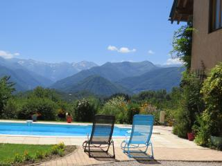 Gite with amazing views of the Pyrenees & a pool - Soueix-Rogalle vacation rentals