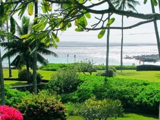 Manualoha 104, Beautifully decorated ocean view condo steps from Brennecke`s Beach. Sleeps 5. Free car* with stay of 7 nights or more. - Poipu vacation rentals