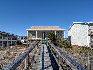 Ebbtide - Kure Beach oceanfront home with screened porch, private beach access - Kure Beach vacation rentals