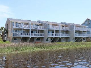 Captain's Quarters #6 - Three bedroom sound front townhome with boat slip! - Carolina Beach vacation rentals