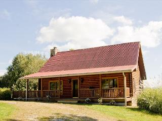 Log Cabin with Long Range River and Mountain Views - - Crumpler vacation rentals