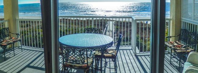 your view of the ocean from the den - October available Luxury Oceanfront 4Bd/4Bt Condo - Isle of Palms - rentals
