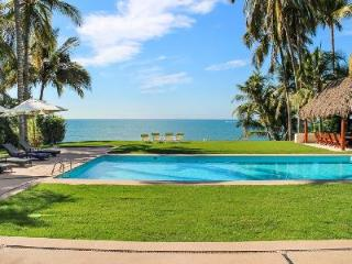 Secluded beachfront haven Villa Patricia with tropical grounds & tranquil pool - Nuevo Vallarta vacation rentals