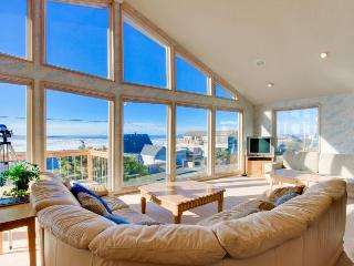 Bright home w/ private hot tub & stunning ocean views, nearby beach access! - Lincoln City vacation rentals