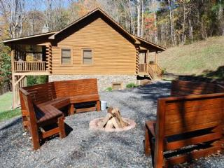 River Raves- Spacious Riverfront Log Cabin - Lansing vacation rentals