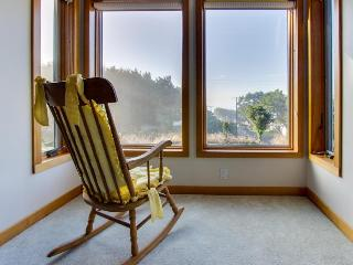 Lovely and bright ocean view home with a deck and jetted tub! - Arch Cape vacation rentals
