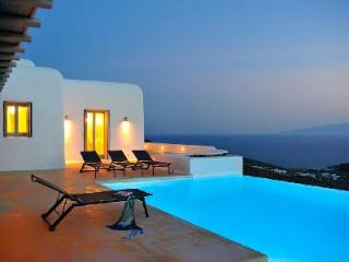 Minerva immersed in the hillside with sea views, peaceful infinity pool & terrace - Mykonos vacation rentals