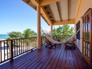 Oceanfront villa with pool, beach just steps away! - Placencia vacation rentals