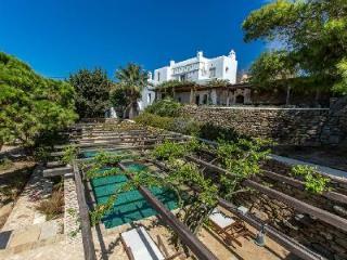 Sea view Magic Garden boasts a tranquil courtyard garden with pool & pergola - Mykonos vacation rentals