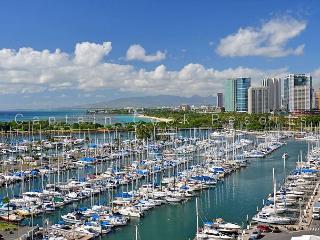 CUSTOM REMODEL!  Marina/Ocean Views, Parking, WiFi, 2/2, Washlets, Sleeps 6 - Honolulu vacation rentals