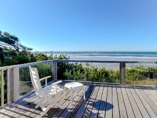 Quiet and secluded beachfront home with dramatic ocean views, grill, & firepit - Yachats vacation rentals