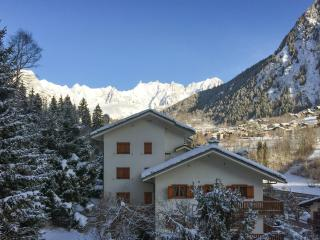 Flat with fireplace & mountain view - Pre-Saint-Didier vacation rentals