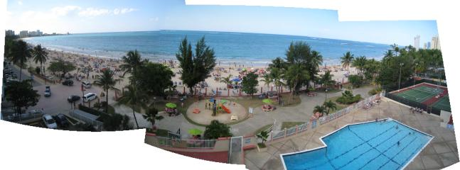 Panoramic view from open balcony - Isla Verde Oceanfront Condo - Carolina - rentals