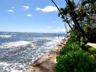 This is it! $215 per night,oceanfront building,beautifully decorated, parking - Haleiwa vacation rentals