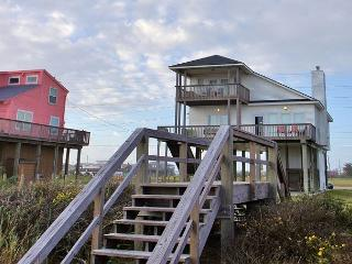 Bishop's Beach... take your shoes off and your feet are in the sand! - Galveston vacation rentals