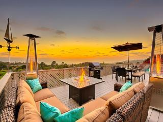 Unobstructed panoramic ocean views and expansive outdoor deck - Solana Beach vacation rentals