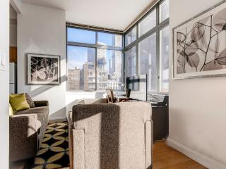 Lux Chelsea Studio w/gym, deck - New York City vacation rentals