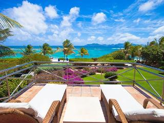 Exquisite views of the Sea and St. Barts and St. Martin from this villa, sheltered by Cinnamon Reef. LHE IND - Little Harbour vacation rentals