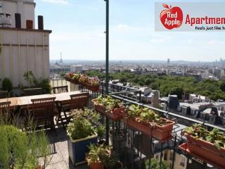 Terrace Panorama - Apartment with Awesome views over Pari - Paris vacation rentals