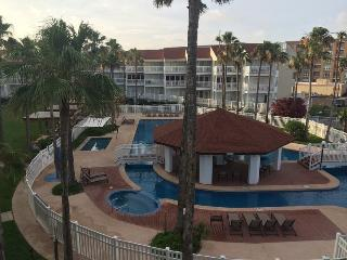 Gulf Point #3203- Deck overlooks entire pool area. Path to the beach. - Port Isabel vacation rentals