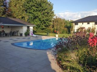 One-bedroom apartment in Vaud, near the banks of Lake Geneva, with fenced garden and pool - Tolochenaz vacation rentals
